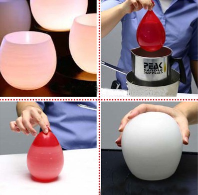 DIY: Water Balloon Candle Holders.