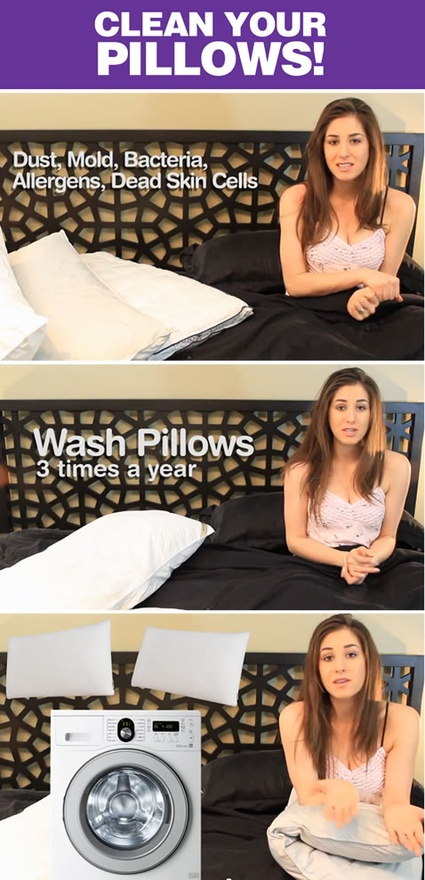 How to Wash and Clean Your Pillows!!