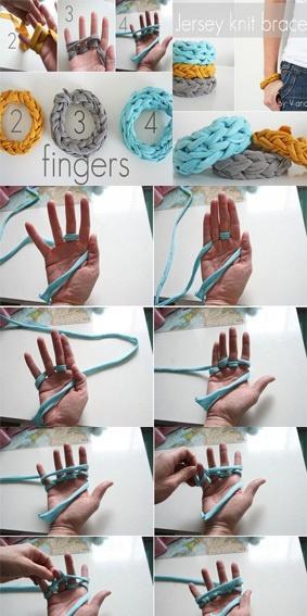 Finger knitting – bracelets!