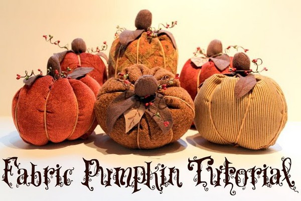 Halloween Fabric Pumpkin Tutorial