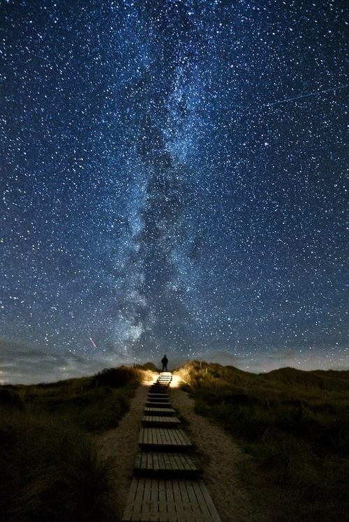 There's a place in Ireland where every 2 years, the stars line up with this trail