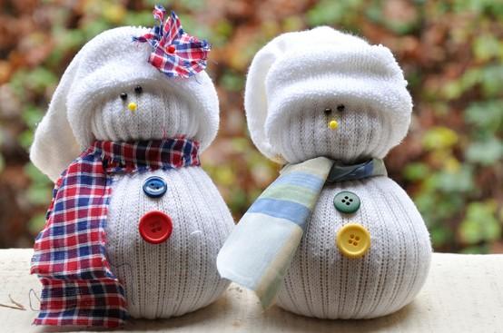 DIY Sock Snowman