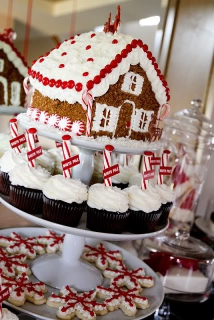 North Pole Gingerbread House Christmas Party, Kara's Party Ideas