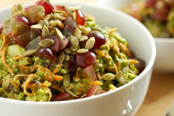 Healthy Broccoli Salad with Creamy Avocado Dressing
