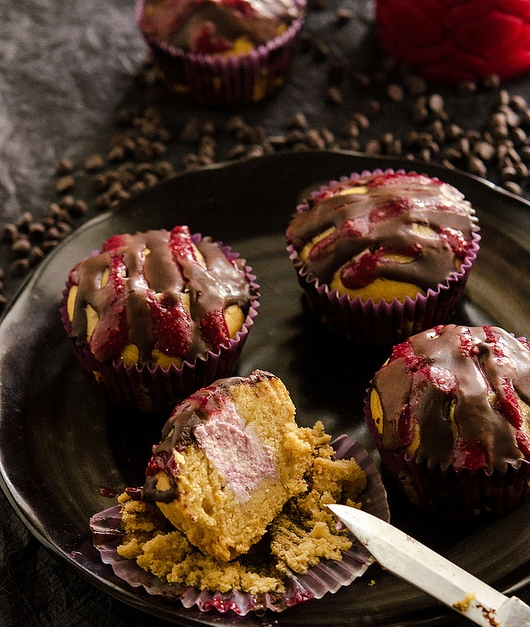 Gluten-Free Bloody Berry Cupcakes!