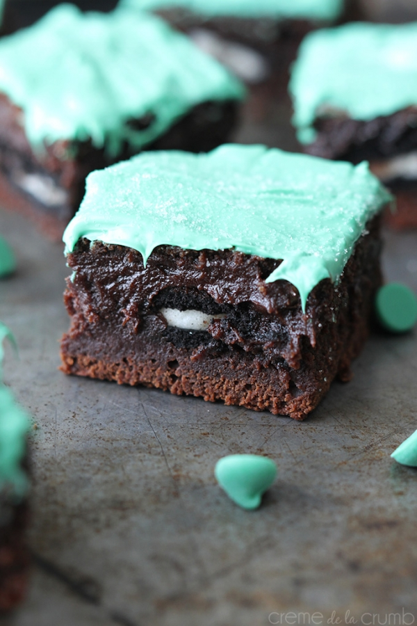 Delicious Mint chocolate Christmas brownies