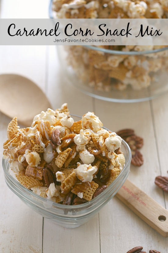 Easy Caramel Corn Snack Mix DELICIOUS