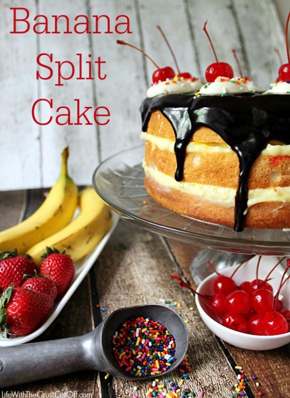 Easy Banana Split Party Cake