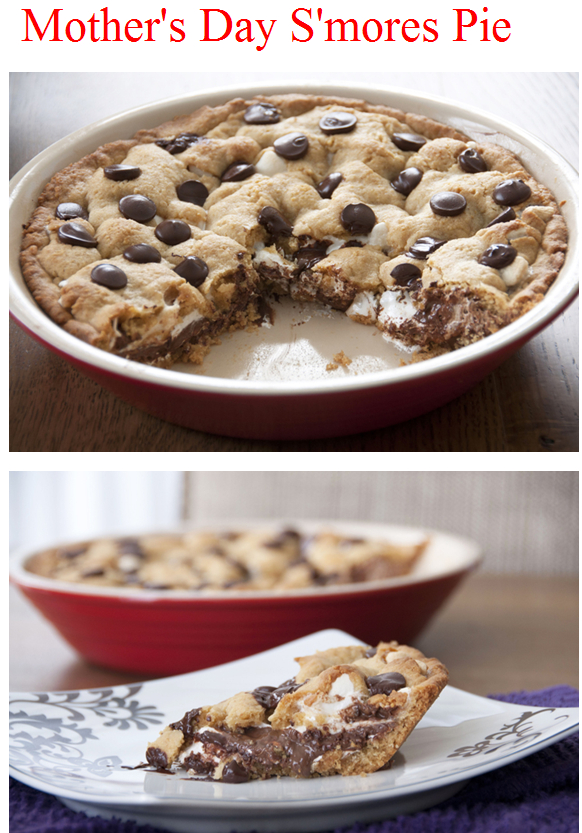 Easy Mothers Day S'mores Pie