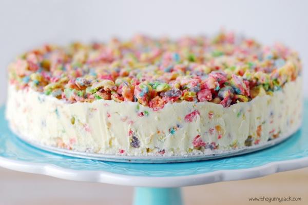 Kids Birthday Fruity Pebble Crunch Ice Cream Cake