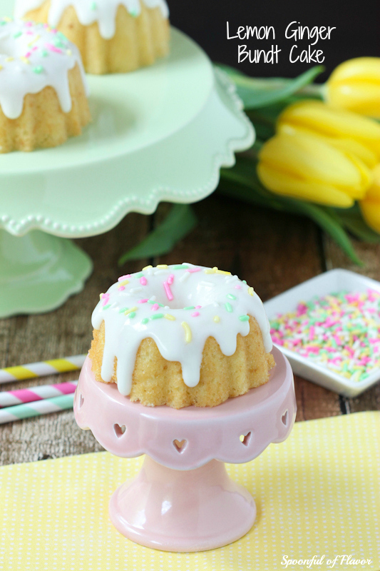 Mothers Day Lemon Ginger Bundt Cake